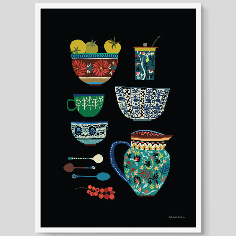 Kitchen Study print