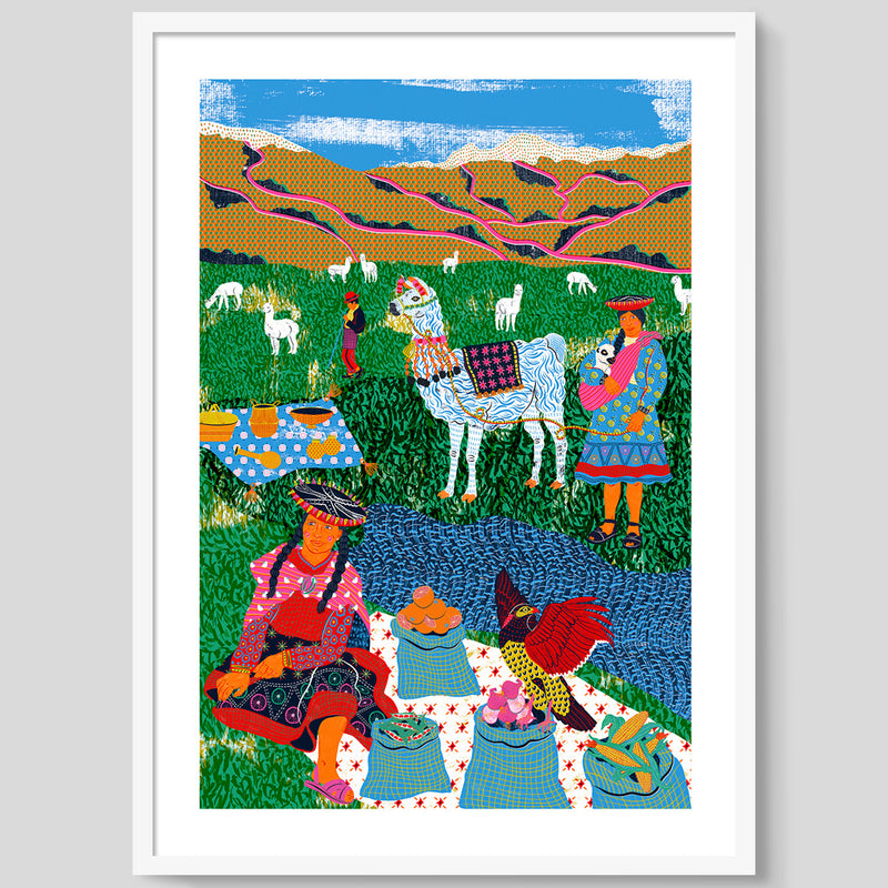 Market In The Andes print