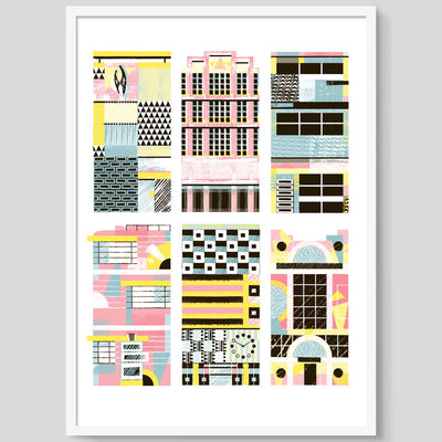 Six Buildings print