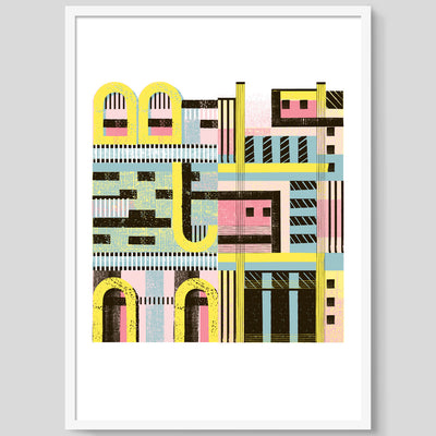 Two Buildings print