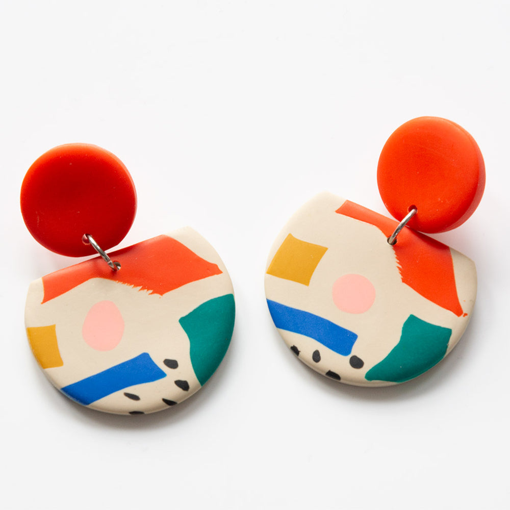 Coco Collage Beige earrings