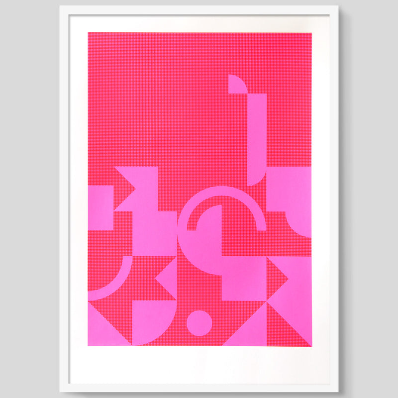 Diptych in Pink 1 print