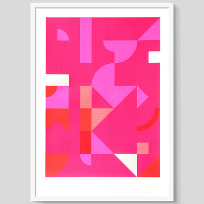 Diptych in Pink 2 print