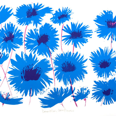 Countless Cornflowers print