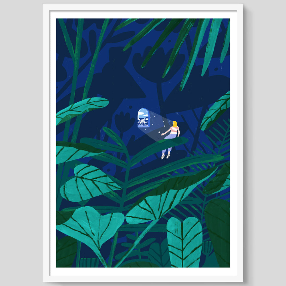 The Forest Bather print