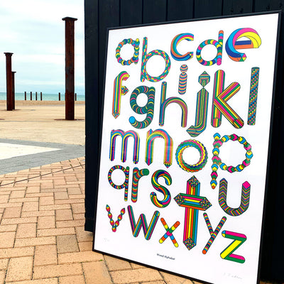 Mixed Alphabet print