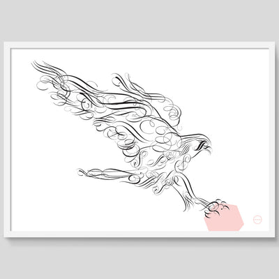 Flourish Hawk print