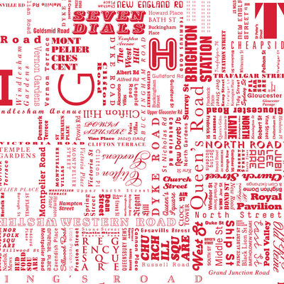 Brighton Fontmap - Red