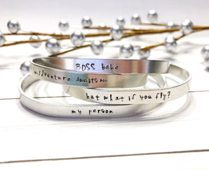 Signature Collection Handstamped Cuff Bracelet