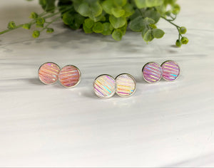 12mm Glitter Stripe Studs