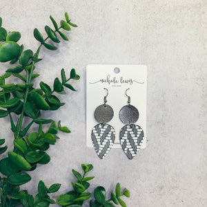 Teardrop Double Drops - Gunmetal Chevron