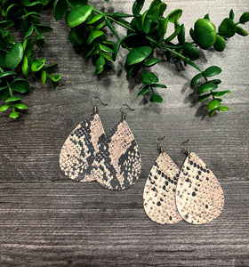 Snakeskin Genuine Leather Earring