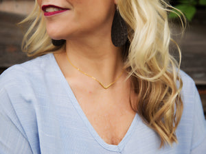 Hammered Antique Chevron Necklace