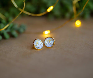 Gold Marble Studs