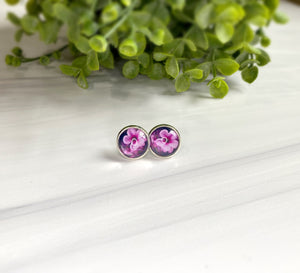 12mm Dome Studs - Flowers