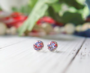 Confetti Glitter Stud Earrings - Fireworks