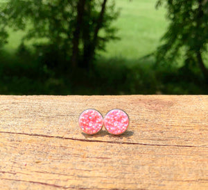 Frosted Druzy Stud Earrings