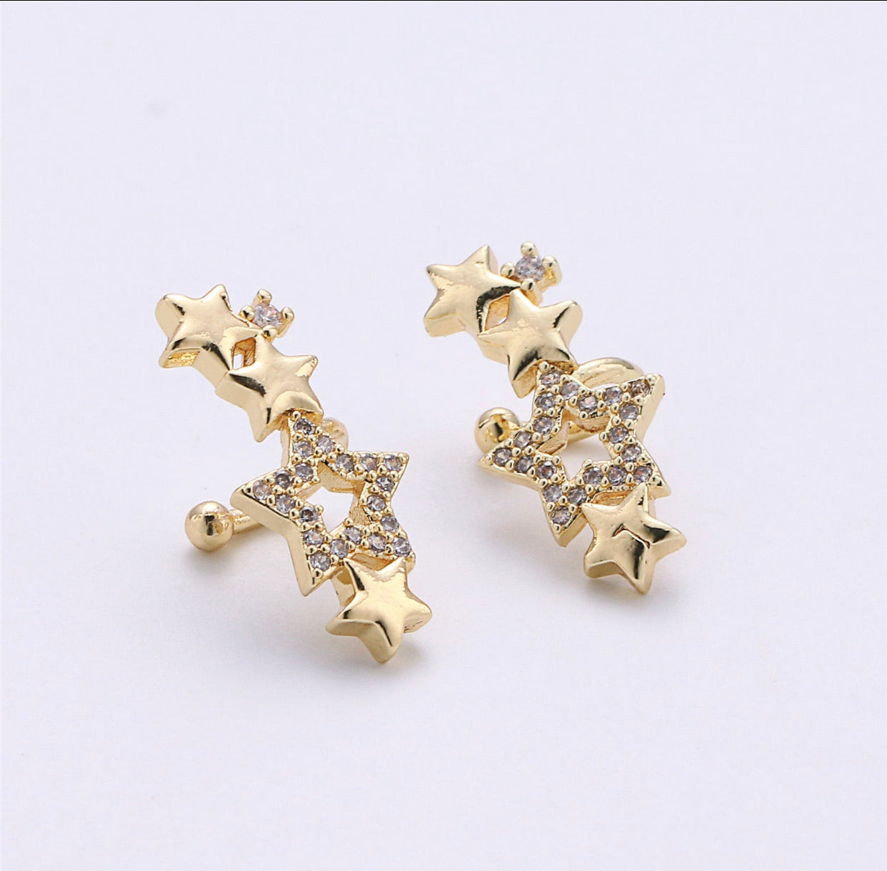Gold Filled Star Ear Cuff