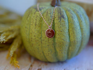 Signature Collection Disc Necklace - Pumpkin