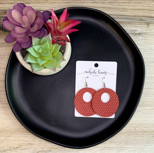 Brandy Hoop Earrings - Watermelon Dot