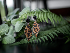 Hannah Cork Earrings - Leopard