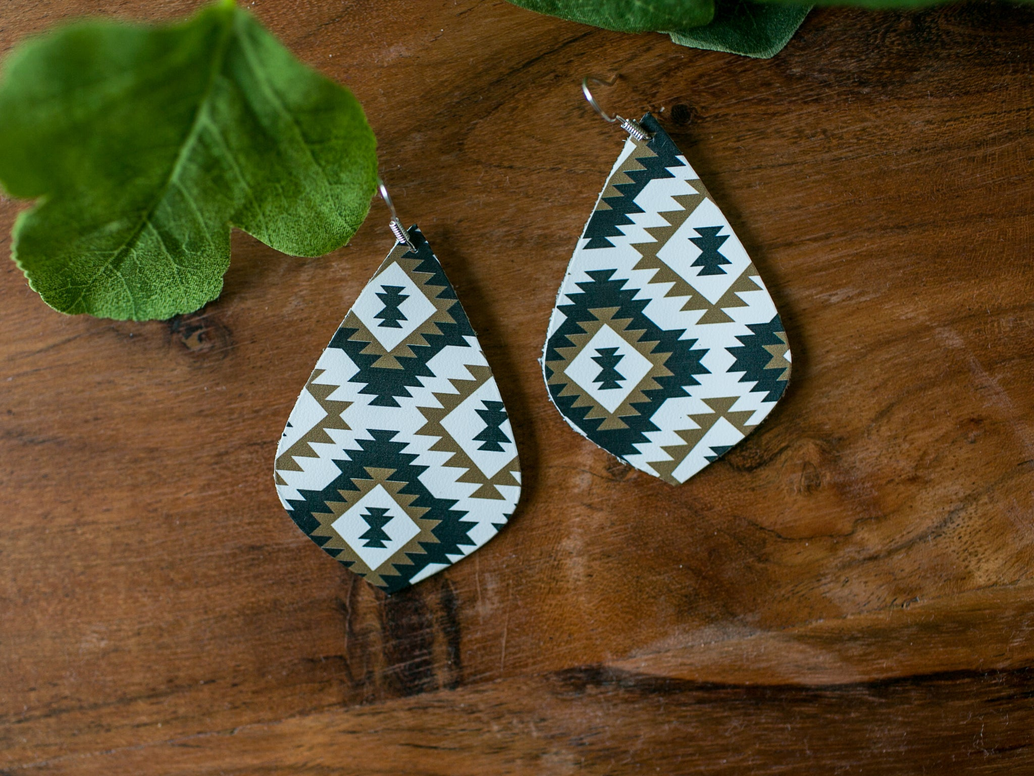 Piper Genuine Leather Earrings - Renegade Aztec