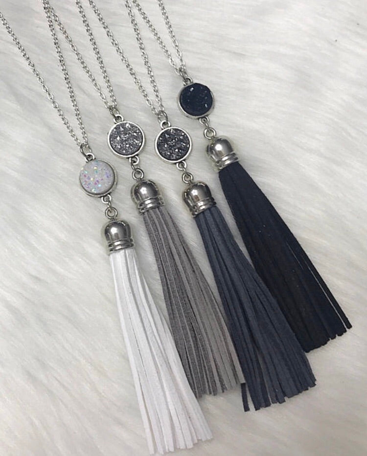 Silver Tassel Necklaces