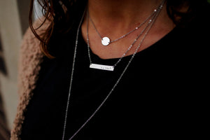 Signature Collection Gold Plated Personalized Bar Necklace
