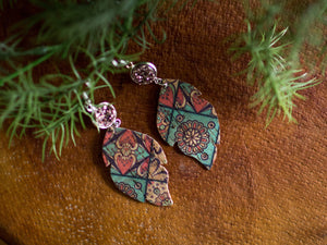 Hannah Cork Earrings - Mosaic Cork