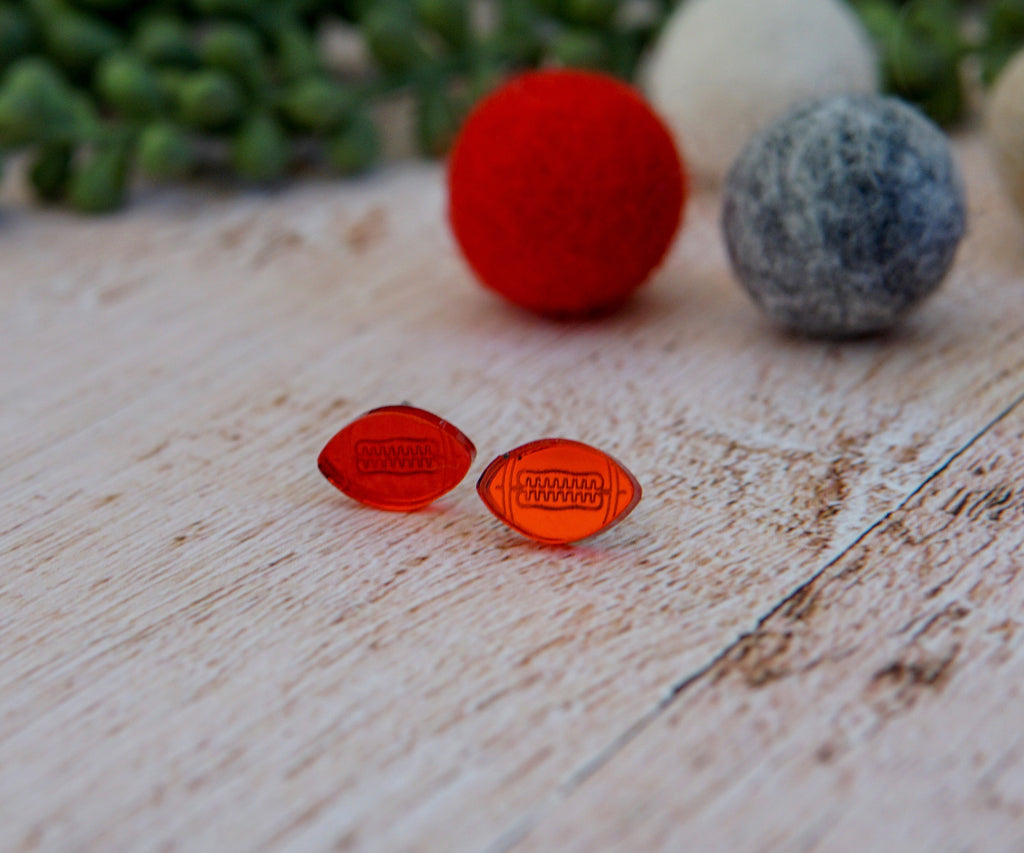 Football Acrylic Studs- Red