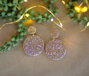 Rylee Page Glitter Earrings - Champagne