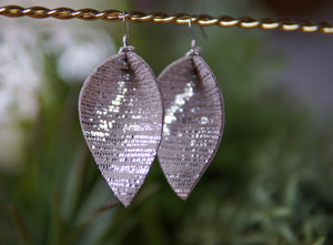 Rainy Day Leaf Earrings- Silver