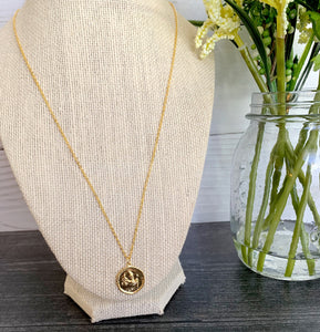Zodiac Disc Necklace