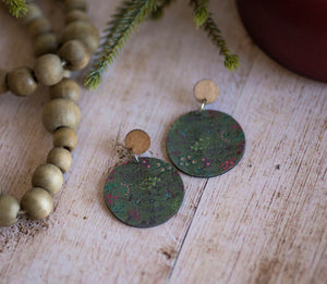 Rylee Page Cork + Wood Earrings - Holiday Berries