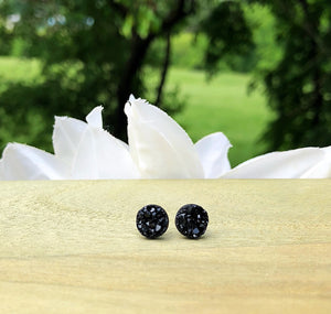 Kids Druzy Stud Earrings