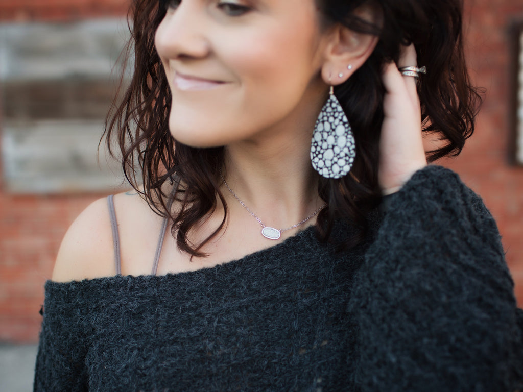 Premier Collection Lisa Druzy Necklace - Silver