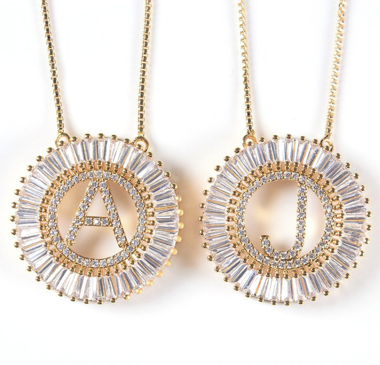 Premier Collection Sunshine Initial Necklace - Gold