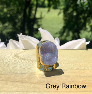 Premier Collection Druzy Statement Ring