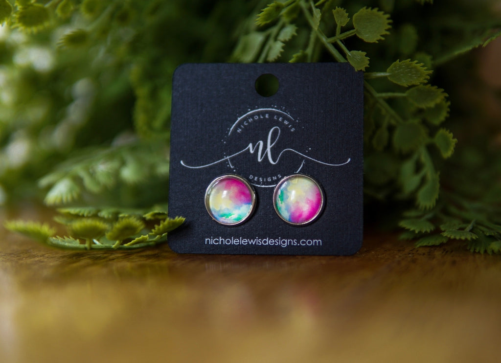 Tie Dye Stud Earrings