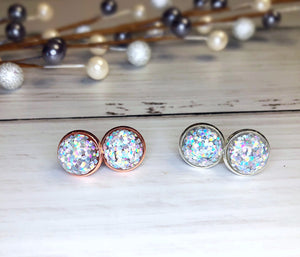 Holographic Confetti Stud Earrings
