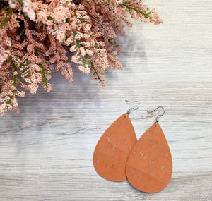 Peach Cork Earrings