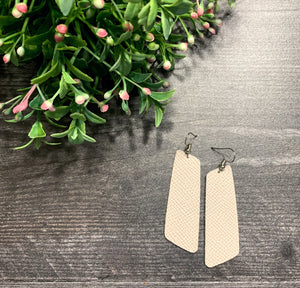 Sarah Genuine Leather Earrings - Marshmallow