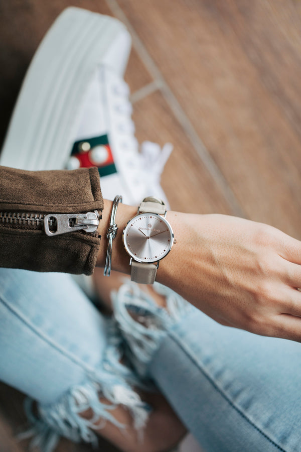 Tangón Leather STRAP -  Silver