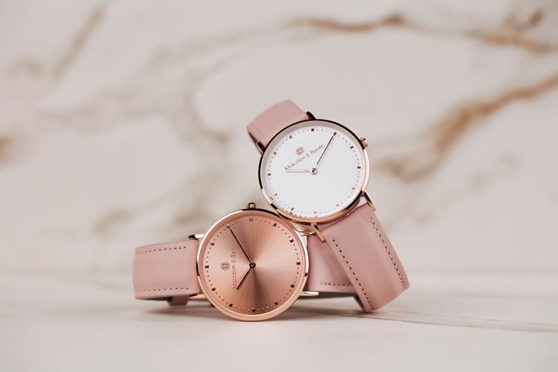 Pink Leather STRAP - Gold