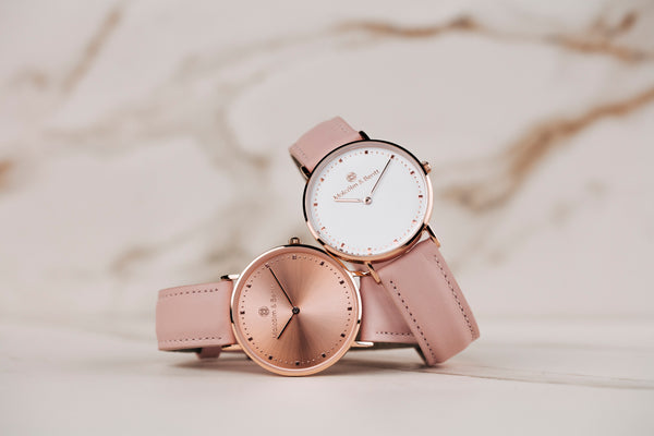 Pink Leather STRAP - Silver