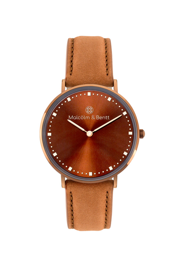 Coffee Passion ~ Brown Velvet women Watch