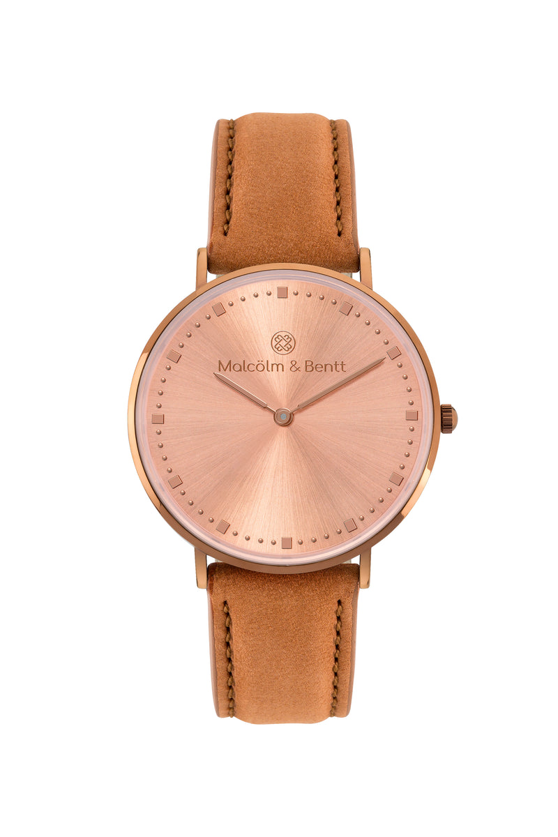 Coffee/Rose Gold Shiny ~ B. Velvet women Watch