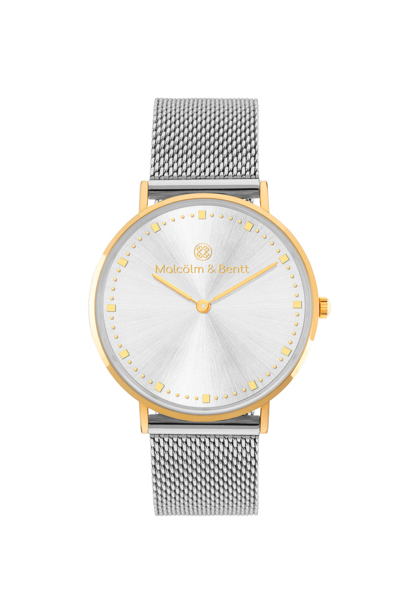 Gold/Silver Shiny ~ S. Mesh women Watch