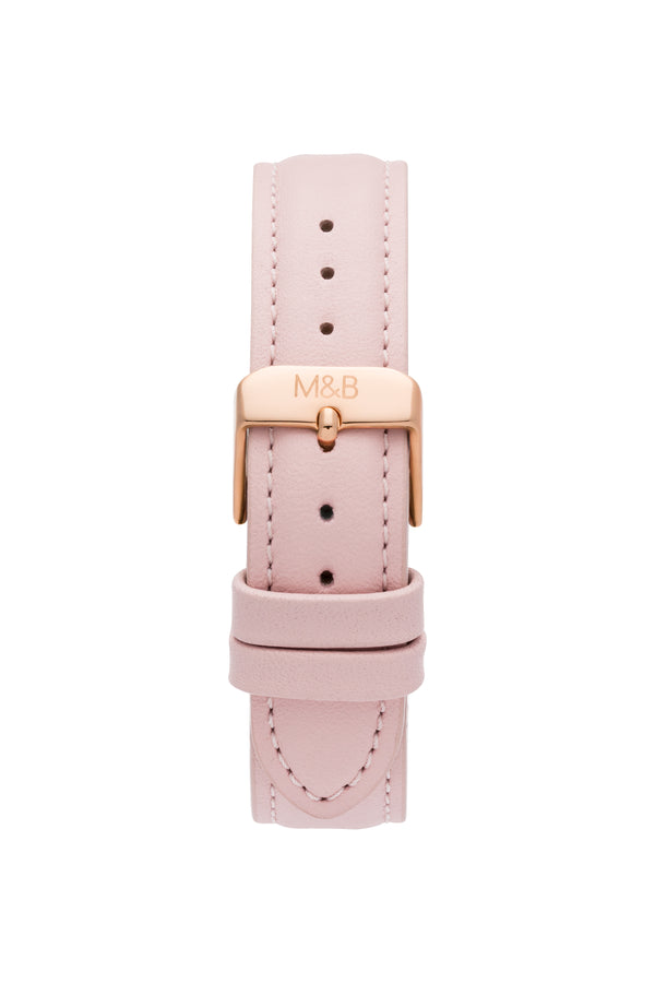 Rose Gold/White ~ Pink Leather
