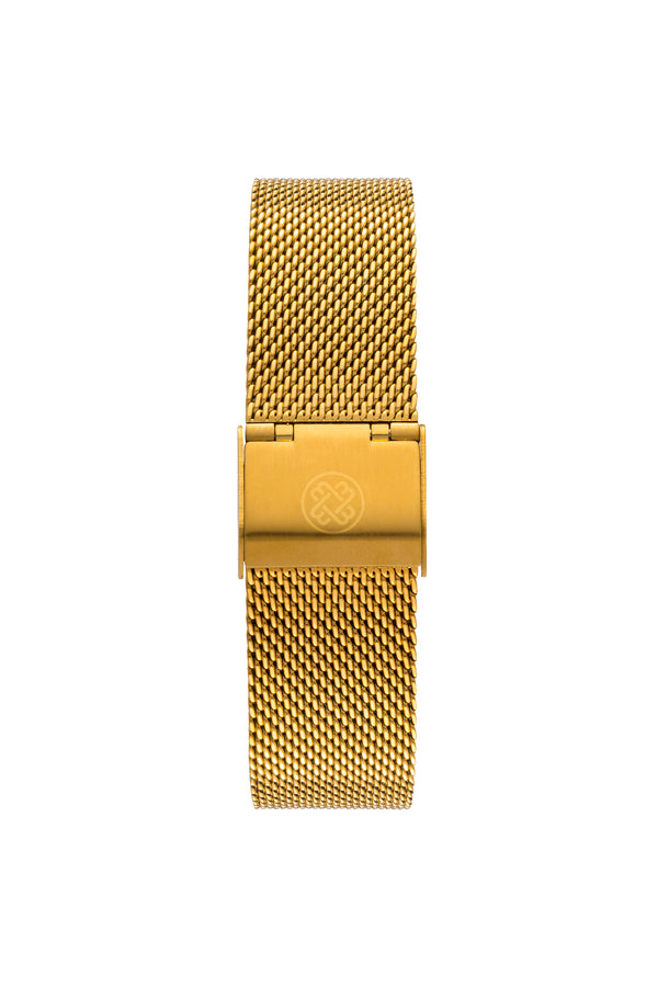 Gold/White ~ G. Mesh women Watch